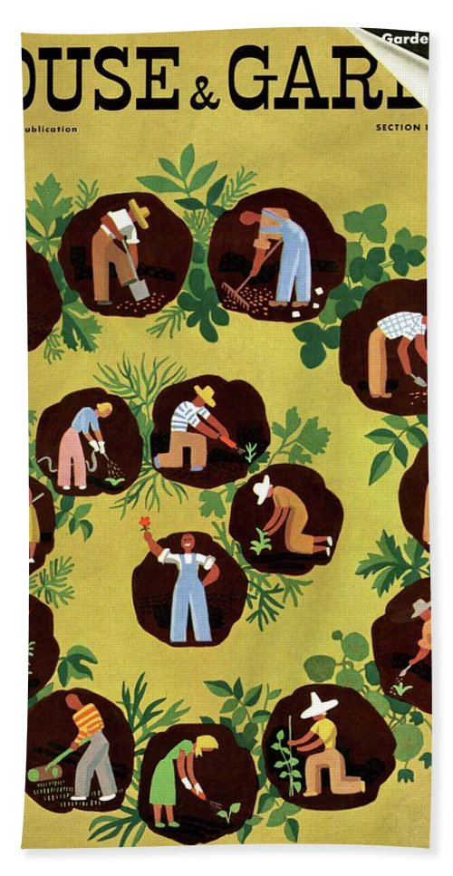 House And Garden Beach Towel featuring the photograph Gardeners And Farmers by Witold Gordon
