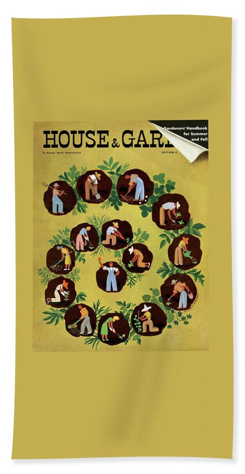 House And Garden Beach Sheet featuring the photograph Gardeners And Farmers by Witold Gordon