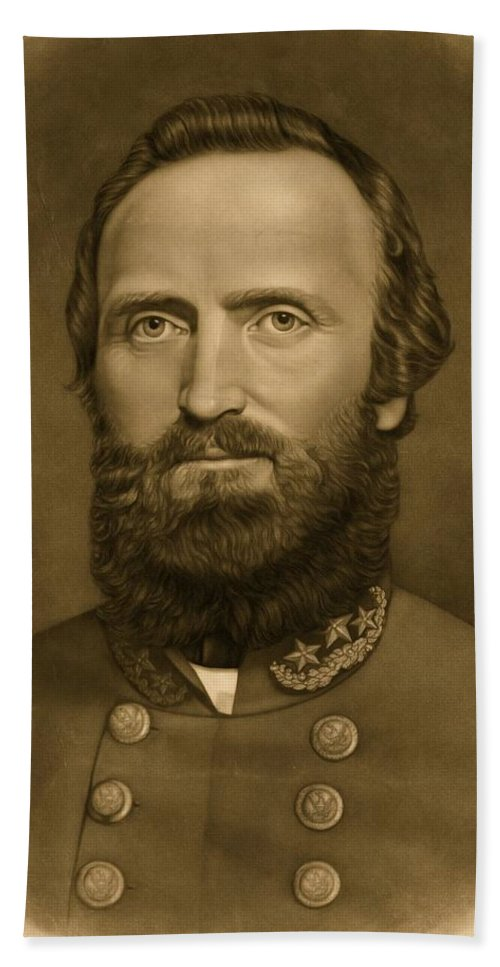 Confederacy; Confederate; South; General; Stonewall; Jackson; Civil; War; States; Between; Portrait; 1871 Beach Towel featuring the photograph General Stonewall Jackson 1871 by Anonymous