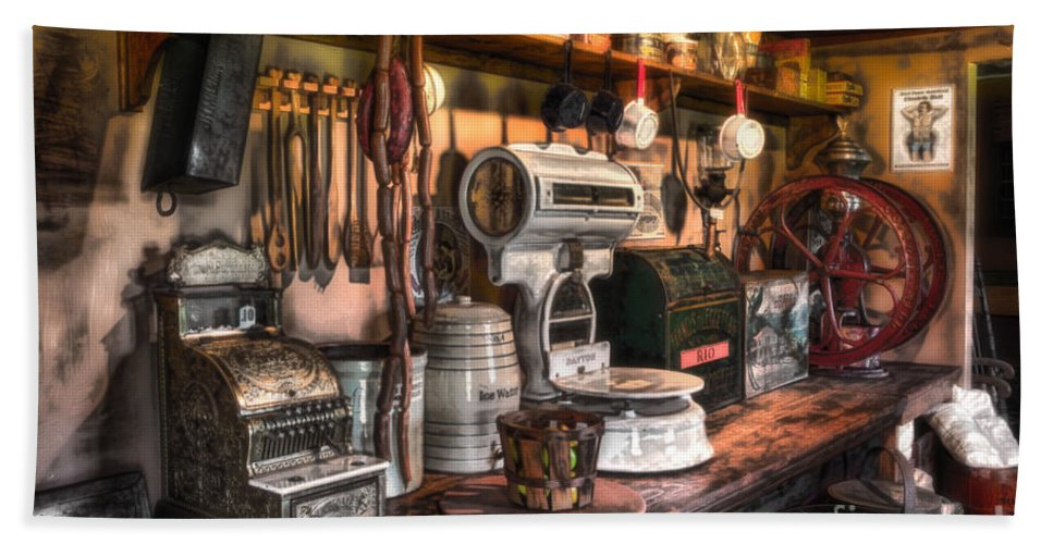 New Jersey Beach Towel featuring the photograph General Store by Jerry Fornarotto
