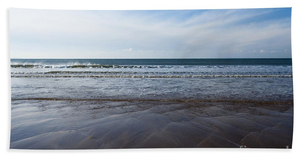 Ocean Beach Towel featuring the photograph Gentle Waves by Anne Gilbert