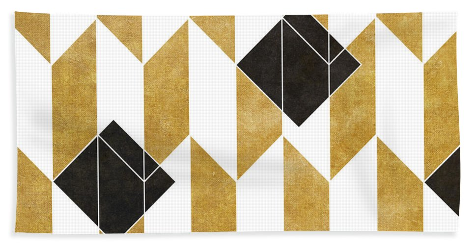 Pattern Beach Towel featuring the digital art Geo Pattern IIi by South Social Studio