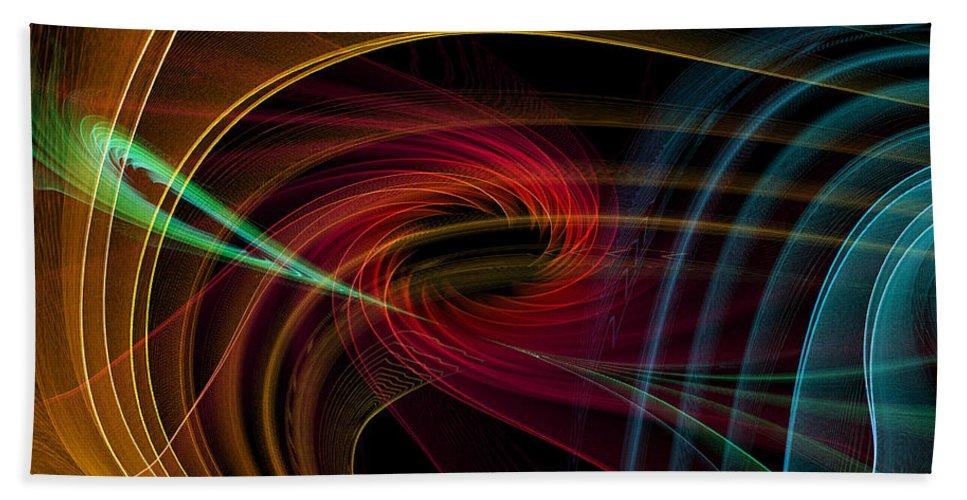 Contemporary Beach Towel featuring the digital art Geometric 8 by Mark Ashkenazi