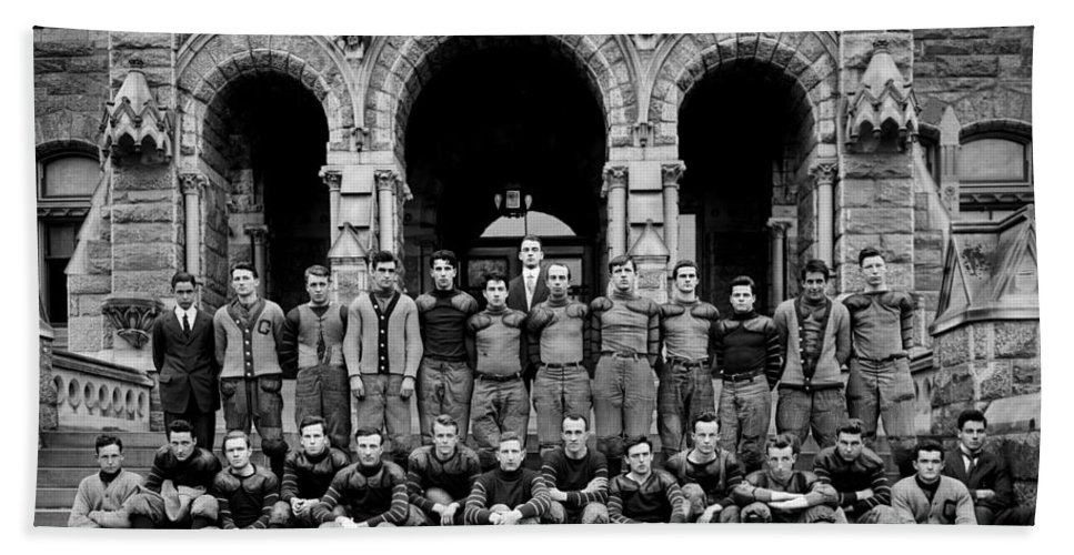 Football Beach Towel featuring the photograph Georgetown Football 1910 by Benjamin Yeager