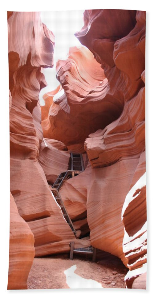 Canyon Beach Towel featuring the photograph Get To The Bottom by Christiane Schulze Art And Photography