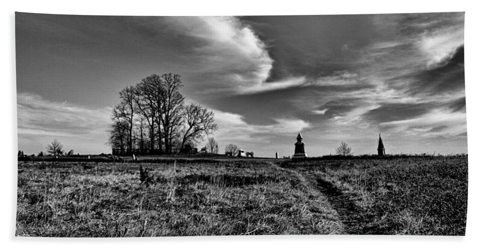 Joshua House Photography Beach Towel featuring the photograph Gettysburg Sky by Joshua House