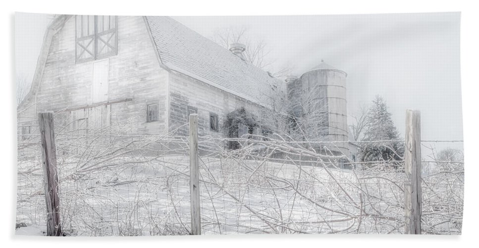 Bucolic Beach Towel featuring the photograph Ghost Barn by Bill Wakeley