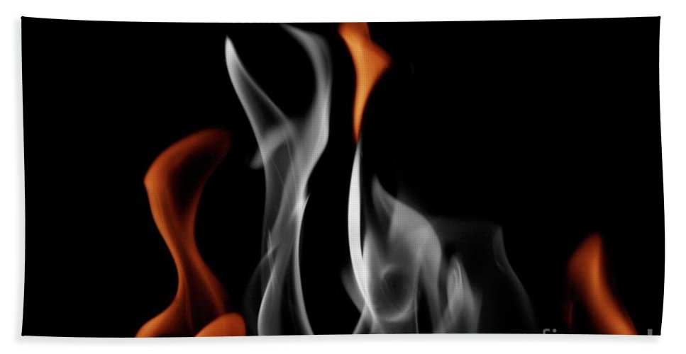 Fire Beach Towel featuring the photograph Ghostly Flames by Rick Monyahan