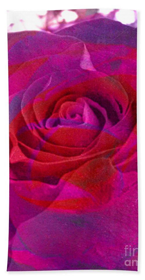 Digital Image Beach Towel featuring the digital art Gift Of The Heart by Yael VanGruber