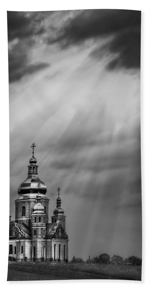 Church Beach Towel featuring the photograph Give Me A Sign by Evelina Kremsdorf