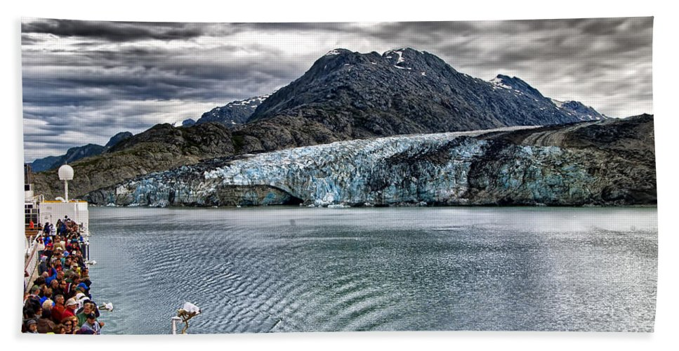 Glacier Beach Towel featuring the photograph Glacier View by Jon Berghoff