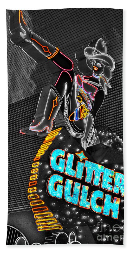Glitter Beach Towel featuring the photograph Glitter Gulch by Rob Hawkins