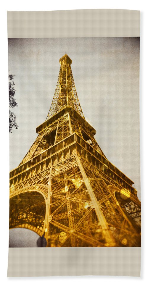 Photography Beach Towel featuring the photograph Glittery Paris by Emily Navas