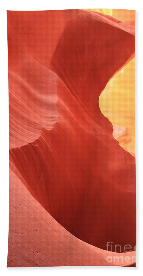 Arizona Slot Canyon Beach Towel featuring the photograph Glow Under The Desert Floor by Adam Jewell