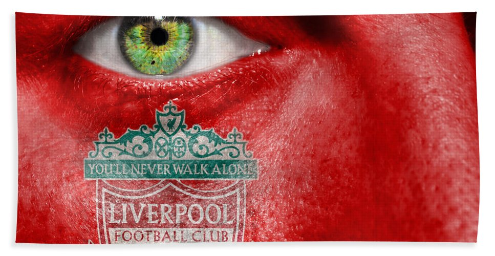 1892 Beach Towel featuring the photograph Go Liverpool Fc by Semmick Photo