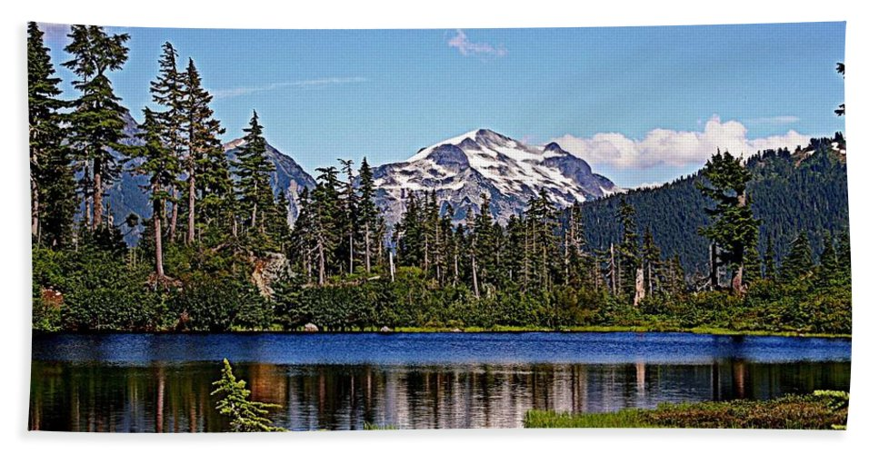 Mountains Beach Towel featuring the photograph Goat Mountain by Lynn Bawden