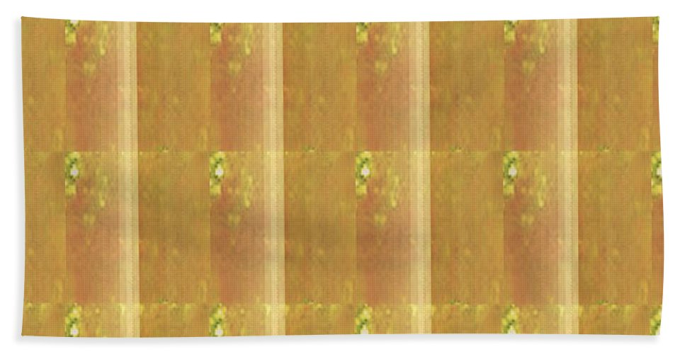 Mom Beach Towel featuring the mixed media Gold Embossed Foil Art For Mom Digital Graphic Signature  Art Navinjoshi Artist Created Images Te by Navin Joshi