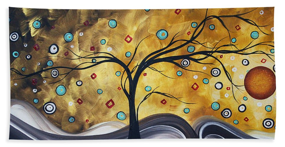 Wall Beach Towel featuring the painting Golden Admiration By Madart by Megan Duncanson