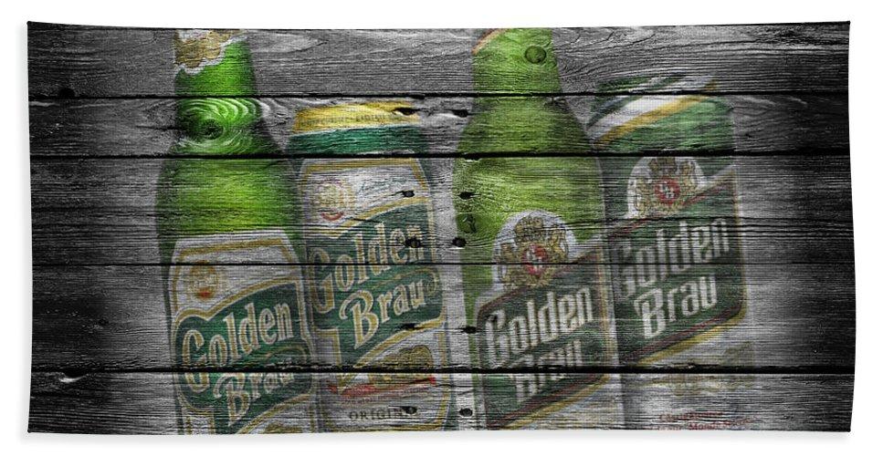 Golden Brau Beach Towel featuring the photograph Golden Brau by Joe Hamilton