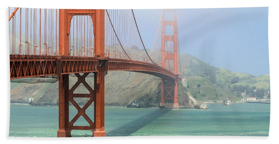 Made In America Beach Towel featuring the photograph Golden Gate by Steven Bateson