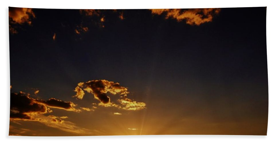 Sunset Photograph Beach Towel featuring the photograph Golden Glow by Barbara St Jean
