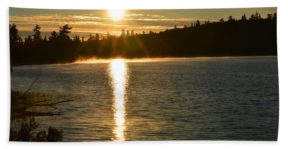 Sunset Beach Towel featuring the photograph Golden Glow by Thomas Phillips