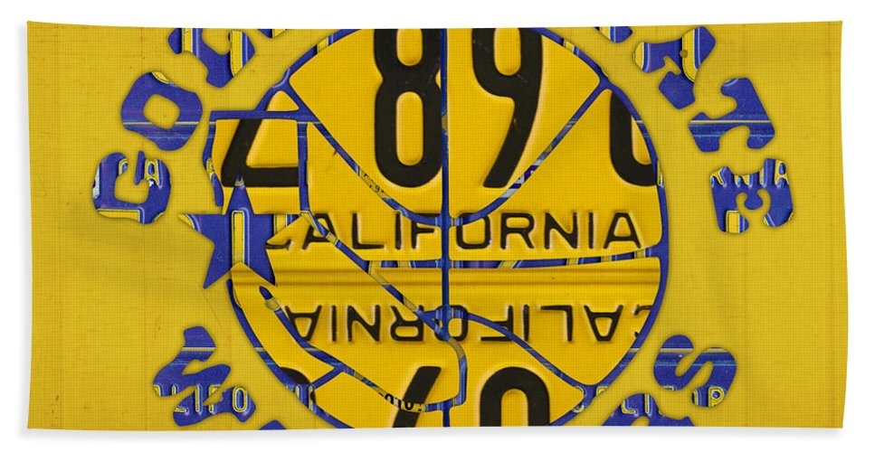 golden state warriors basketball team retro logo vintage recycled