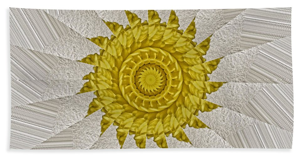 Radial Beach Towel featuring the photograph Golden Sun by Bobbie Barth