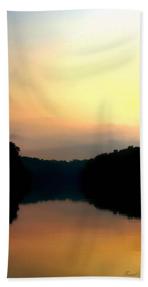 Apalachicola River Beach Towel featuring the photograph Golden Sunrise by Debra Forand