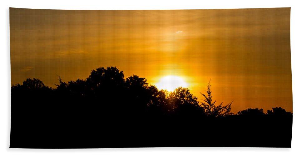 Autumn Beach Towel featuring the photograph Golden Sunset by Gaurav Singh