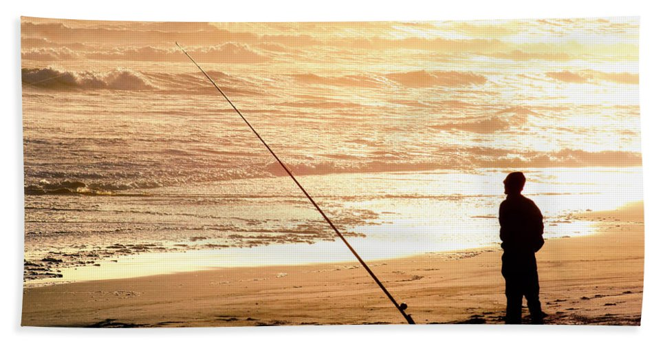 Namibia Beach Towel featuring the photograph Gone Fishin' Instead Of Just A-wishin' by A Rey