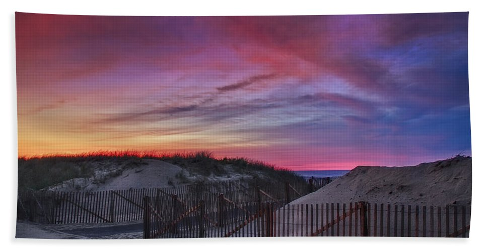 Scenic Beach Towel featuring the photograph Good Night Cape Cod by Susan Candelario