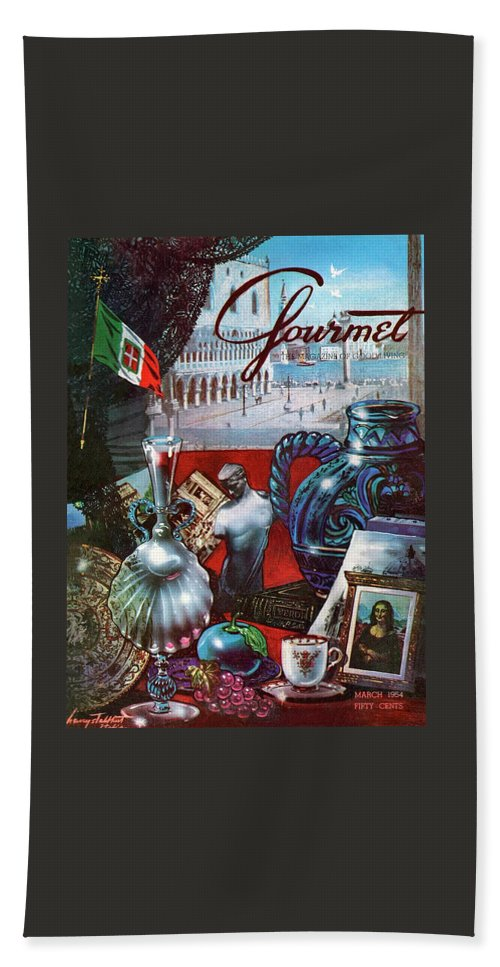 Gourmet Cover Featuring A Variety Of Italian Beach Towel
