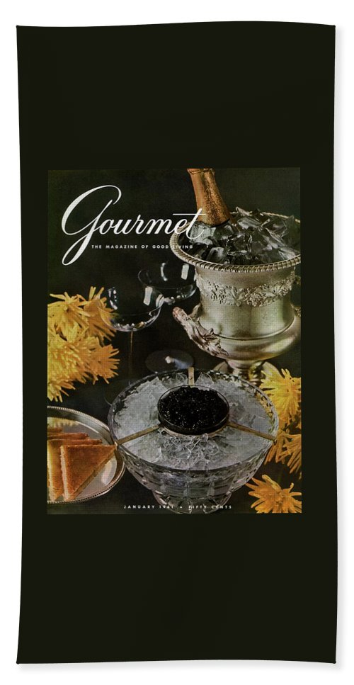 Food Beach Towel featuring the photograph Gourmet Cover Featuring A Wine Cooler by Arthur Palmer