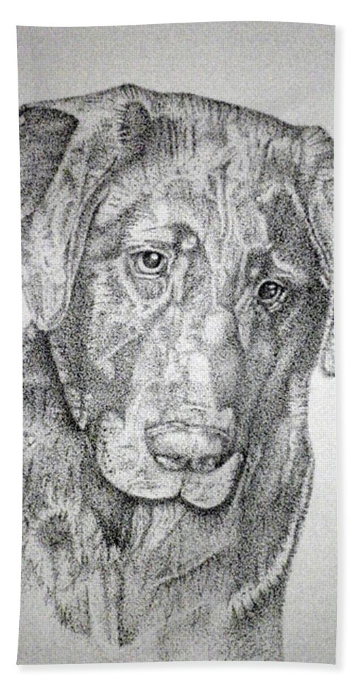 Dog Beach Towel featuring the drawing Gozar by Mayhem Mediums