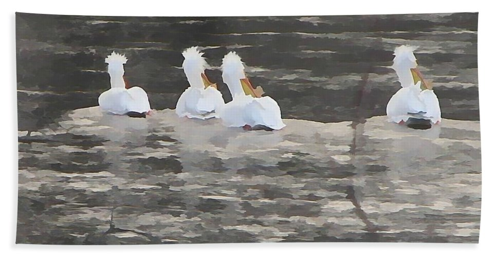 Swans Beach Towel featuring the painting Grace In Life by Robert Nacke