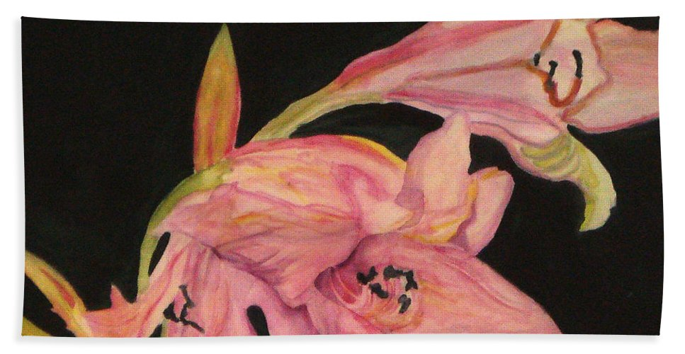 Water Color Flower Beach Towel featuring the painting Grace by Yael VanGruber