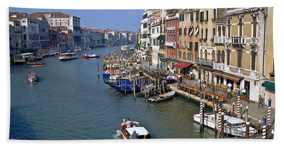 Venice Beach Towel featuring the photograph Grand Canal by Heiko Koehrer-Wagner