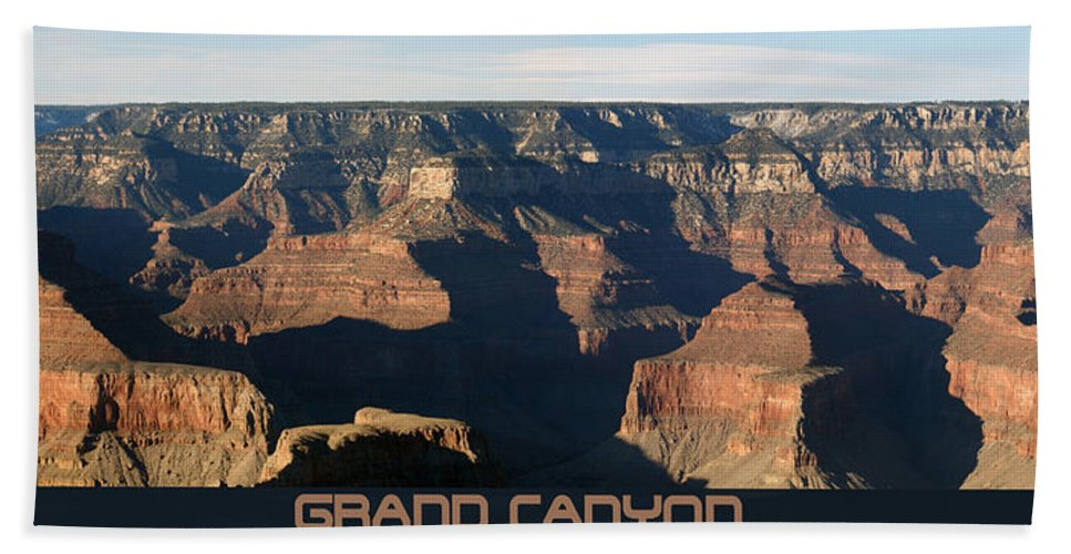 Canyons Beach Towel featuring the photograph Grand Canyon by Ernie Echols