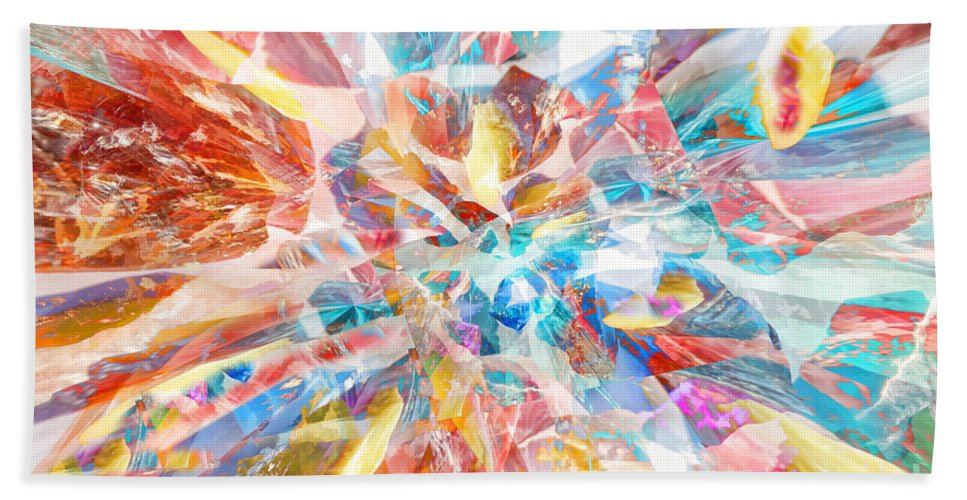 Abstract Beach Towel featuring the digital art Grand Entrance by Margie Chapman