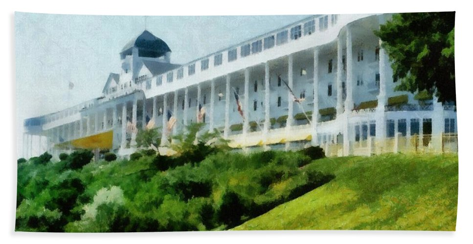 Hotel Beach Towel featuring the photograph Grand Hotel Mackinac Island Ll by Michelle Calkins