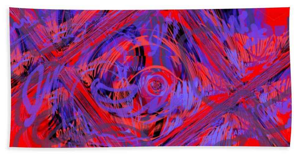 Graphic Art Beach Towel featuring the digital art Graphic Explosion by Pharris Art