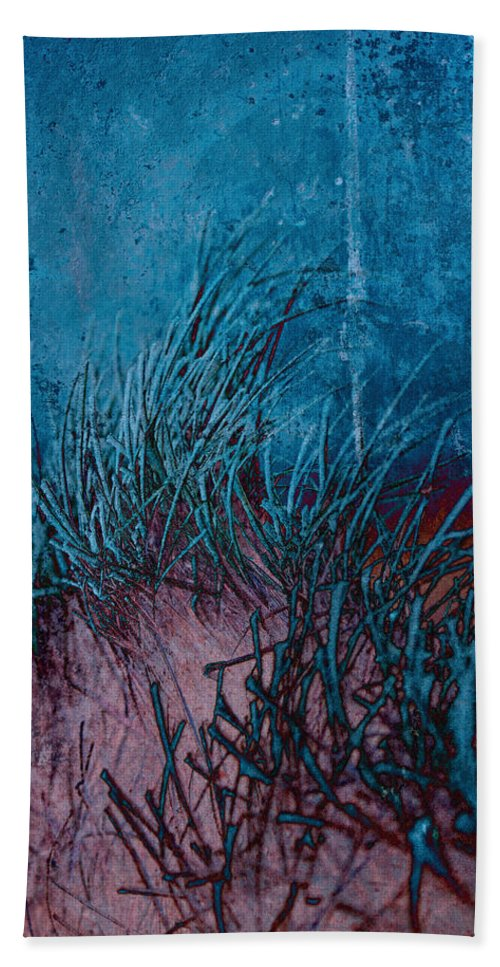 Frost Beach Towel featuring the photograph Grass Abstract by David Pringle