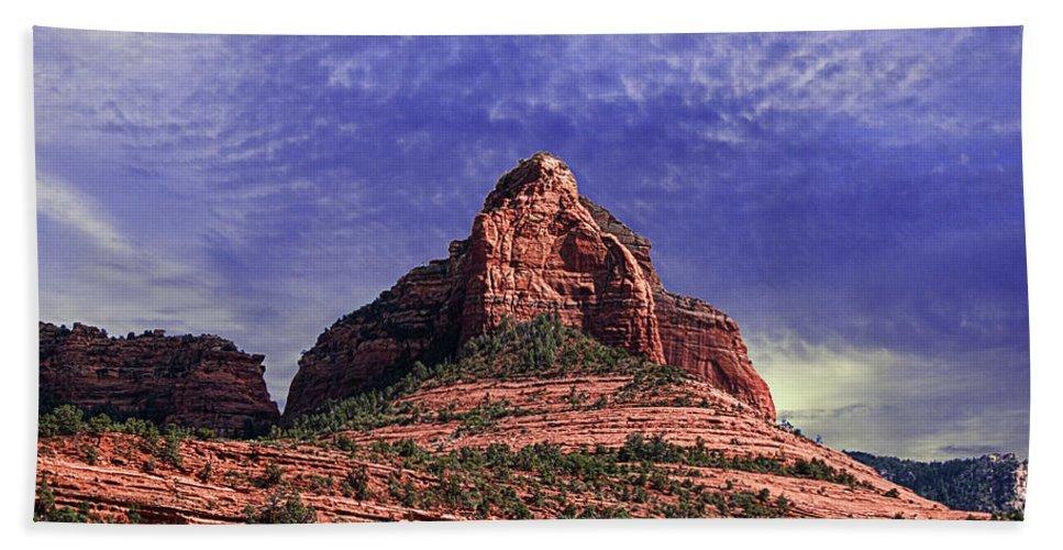 Arizona Beach Towel featuring the photograph Grasshopper Point Sedona by Janice Pariza