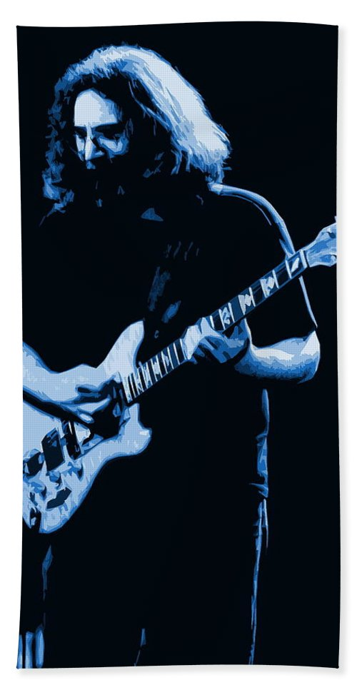Jerry Garcia Beach Towel featuring the photograph Grateful Blues by Ben Upham