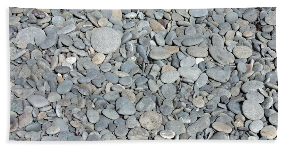 Rocks Beach Towel featuring the photograph Gray Rocks by Carol Groenen