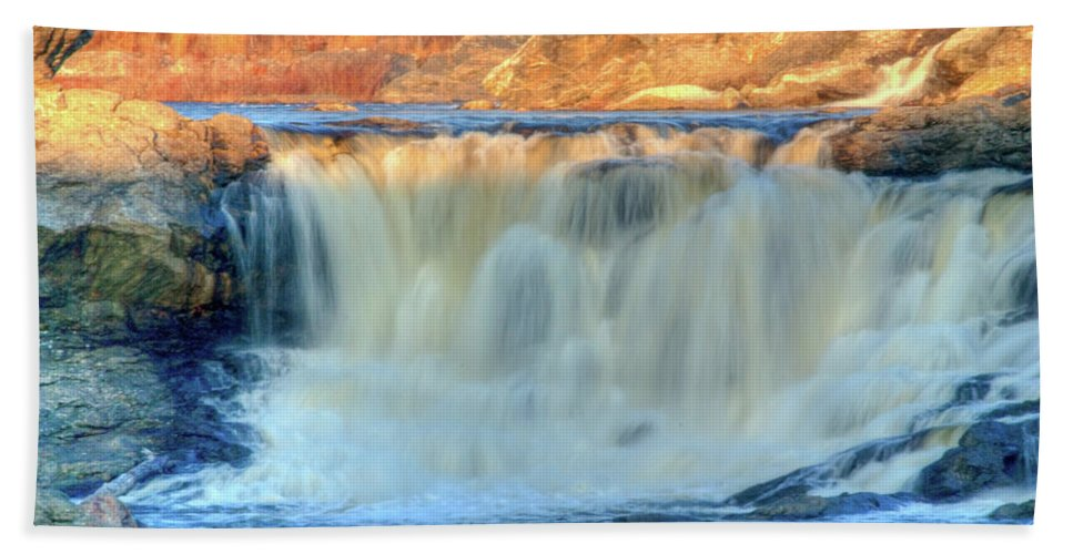 Water Beach Towel featuring the photograph Great Falls 14133 by Guy Whiteley