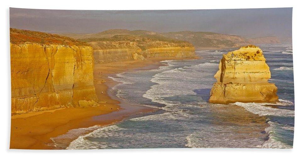 Australia Beach Towel featuring the photograph Great Ocean Road #4 by Stuart Litoff