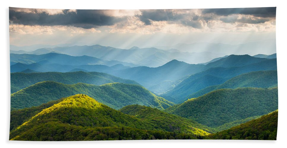 Great Smoky Mountains Beach Towel featuring the photograph Great Smoky Mountains National Park NC Western North Carolina by Dave Allen