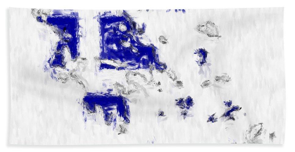 Greece Beach Towel featuring the photograph Greece Painted Flag Map by Antony McAulay